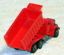 1979 Vintage Hot Wheels Red Long Bed Metal Dump Truck by Mattel