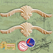 2 Shabby Chic French Provincial Vintage Style Furniture Appliques Resin & Wood