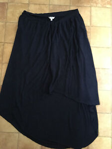 Fat Face Navy Midi Viscose Skirt, Size L, Very Good Condition