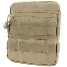 Condor MA67 TAN General Purpose Pouch MOLLE Zipper Utility Bag Mesh Sleeve