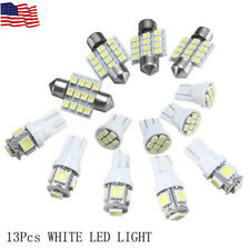 13Pcs Car White LED Lights Kit for Auto Dome Interior License Plate Lamps Set