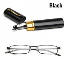 Unisex Metal Reading Glasses Spring Hinge With Tube Case +1.0~+4.0 Strength~