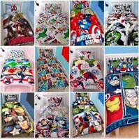 Marvel Comics Avengers Single Double Bedding Set Duvet Superheroes