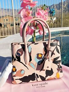 🌸 NWT Kate Spade Paper Rose Eva Small Satchel Leather Bag Pink Multi NEW $329