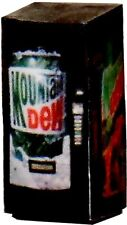 O Scale LIGHTED Vending Machine 1/48 Mountain Dew Machine - Illuminated