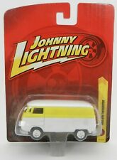 Johnny Lightning FORVER 64 R18 = Yellow & White 1965 VW Transporter Van *NIP*