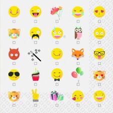 4 Servietten ~ Smilies Emoticons  Serviettentechnik