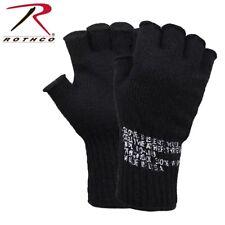 Rothco 8411 - Black Adult Fingerless Wool Gloves