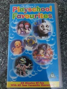Children's PLAYSCHOOL Favourites VHS Video /Thomas Tank/Rosie & Jim/Sooty/Brum