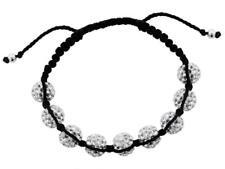 Womens Shamballa Crystal Bracelet 10mm 9 Ball Jewellery Jewelery