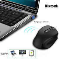 Mice Wireless Mouse Bluetooth Optical 2400 DPI for Mac Android Black PC Laptop