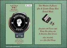 Royale Car Scooter Bar Badge - NORTHERN SOUL CLENCHED FIST - B1.1551