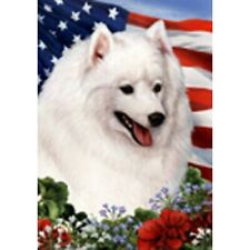 New ListingPatriotic (1) House Flag - Japanese Spitz 16401
