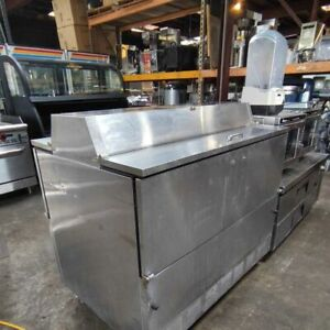 """Used True TMC-49-S-DS 49"""" Stainless Steel Dual Sided Flip Top Milk Cooler"""