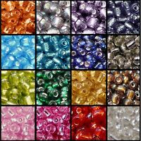 BUY 3 GET 3 FREE 25g 11/0, 6/0, 8/0 Silver Lined Glass Seed Beads