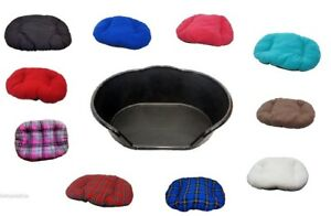 NEW BLACK PET BED, DOG BED, CAT BED WITH CUSHION / PILLOW OF YOUR CHOICE