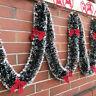 Fj- Fascino Natale Asta Top Nastro Ghirlanda Decorazioni Albero Arco Festa Preci