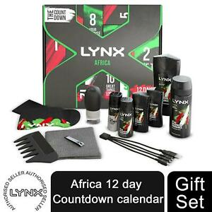 Lynx Africa Countdown To Christmas Advent Calendar 2021 Gift Set for Him
