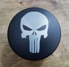 Punisher themed 4 piece herb grinder - black