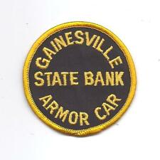 **VINTAGE GAINESVILLE STATE BANK ARMOR CAR PATCH**
