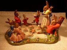 """NEW VERY RARE ROYAL DOULTON BUNNYKINS 2010 TABLEAU """"FAMILY PICNIC"""" ONLY 400 MADE"""