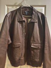 vintage ralph lauren polo leather jacket XXL