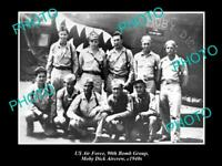 OLD POSTCARD SIZE PHOTO OF US AIR FORCE 90th BOMB GROUP MOBY DICK CREW 1940s