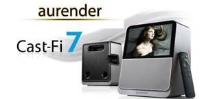 "Aurender Cast Fi 7- HDMI Wifi Google Chromecast  Docking Speaker with 7"" screen"