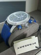 Burberry Sport Chronograph Wrist Watch Men's - Blue Rubber 44mm - Swiss Made