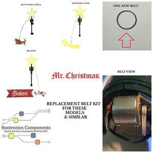 Mr. Christmas Animated Revolving Santa, Shooting Star, Believe, belt kit