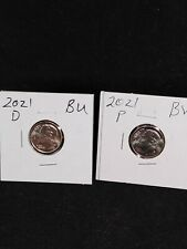 2021 p d Roosevelt Dimes. These coins are nice Bu coins taken from Loomis Rolls