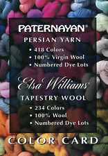 Paternayan Persian Yarn & Elsa Williams Tapestry Wool Color Card NEW Original