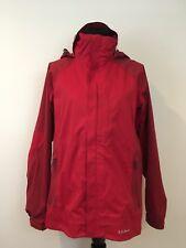 LL Bean Men's Hooded Rain Jacket w/ Matching Removable Fleece Red Sz S VGUC