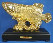 Big Feng Shui Golden Arowana Fish Statue