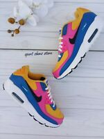 5Y | 6.5 WOMEN'S NIKE AIR MAX 90 LTR CD6864-700 GOLD MULTICOLOR RUNNING SNEAKERS