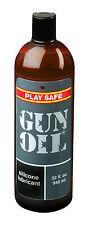 Gun Oil Silicone Based Personal Lubricant - Super Slick Non-Sticky Sex Lube 32oz