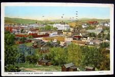 PRESCOTT Arizona ~ 1920's Bird's Eye View ~ Downtown & Surrounding ~ Cabins