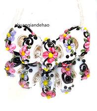 5pcs MURANO Lampwork charm Beads fit 925 silver European Bracelet Chain a1010