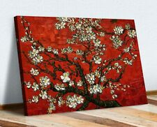 Vincent van Gogh Almond blossom CANVAS WALL ART PAINTING FRAMED PRINT RED