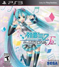 Hatsune Miku: Project Diva F 2nd  (Sony PlayStation 3) *NEW*