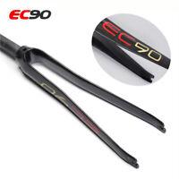"EC90 Road Bike Rigid Fork 700c Full Carbon 3K Bicycle Forks 1-1/8"" Threadless"