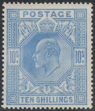1902 DE LA RUE SG265 10s ULTRAMARINE VERY FINE UNMOUNTED MINT