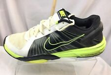 Nike Lunar Kayoss Men's Running Shoe  Size 11.5 Black White Green Flywire