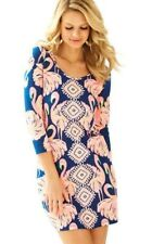 New Lilly Pulitzer Beacon T-Shirt Dress Gimme Some Leg Flamingo Print Small