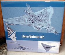 Avro Vulcan RAF Royal Air Force aircraft  Ltd EdT Ceramic Tile