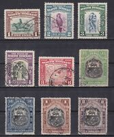 NORTH BORNEO, 1939, Sc# 193-207, CV $211, Part set, Used