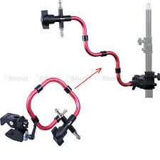 Super Strong Clamp for Tripod Light Stand Pipe +Support Arm Camera Flash Bracket