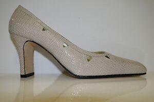 VALENTINA RUSSO Ladies Heeled Court Shoes - PAYTIN - ICE OREGON - UK 6 D