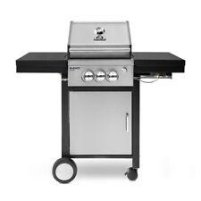 Gasgrill Edelstahl BBQ 2-Brenner Grillwagen Grill Barbecue 11kW Grillen Zubehör