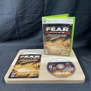F.E.A.R. Files Expansion Pack (Microsoft Xbox 360, 2007) Complete with Manual